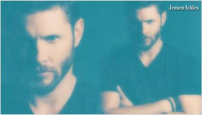 Jensen Ackles Black T-Shirt/Beard V2 by RoseAcklesWinchester