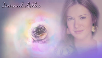 Danneel Ackles Purple Rose by RoseAcklesWinchester