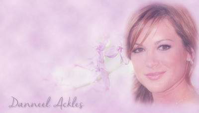 Danneel Ackles Purple Flowers Close up by RoseAcklesWinchester
