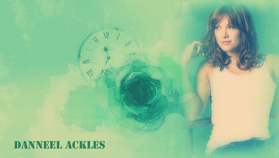Danneel Ackles Green Rose by RoseAcklesWinchester