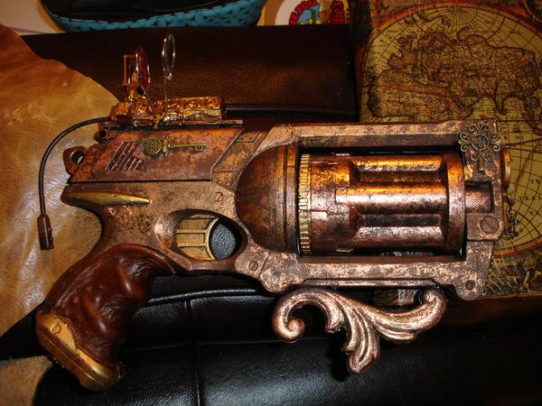 Steampunk Pistol w Laser Sight