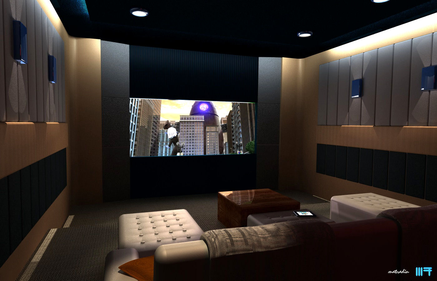 Home theatre by badnugly on deviantart - Home theater interiors ...