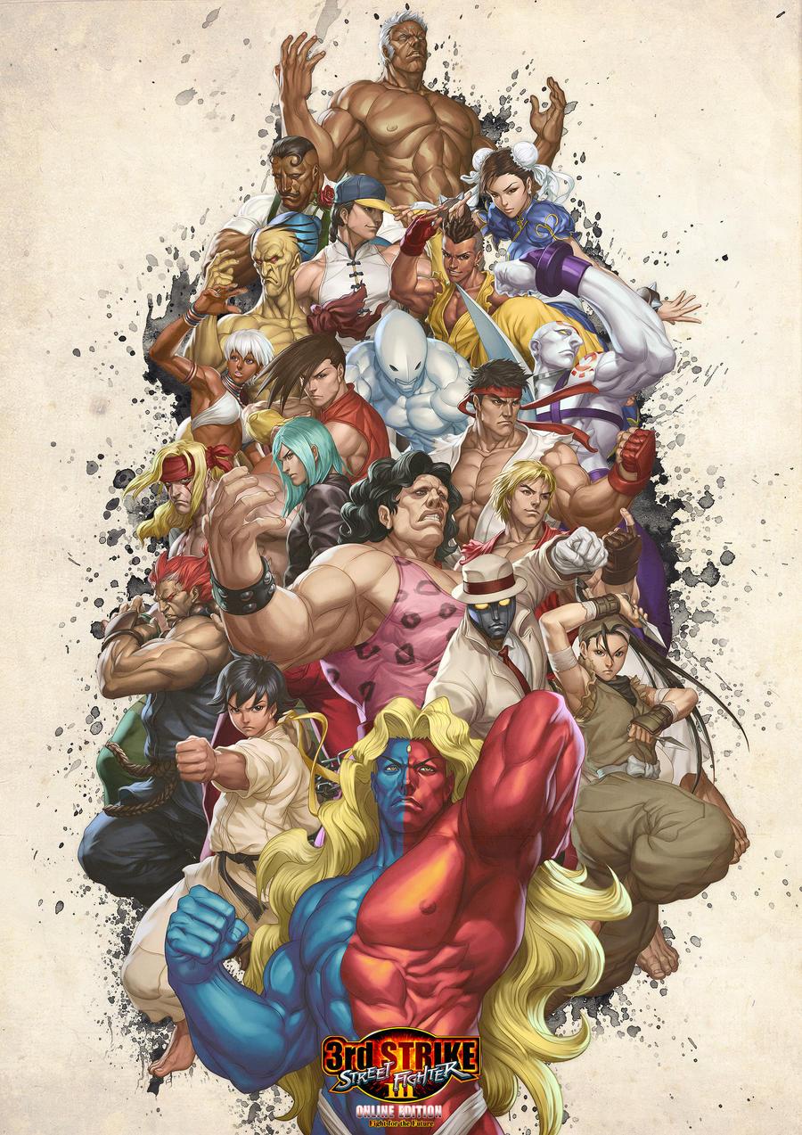 Street Fighter III OE Art 1 by Artgerm on deviantART