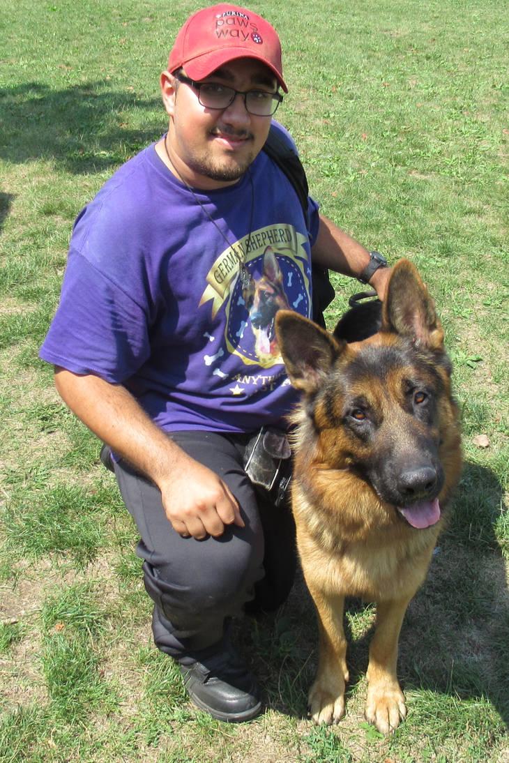Me and German Shepherd