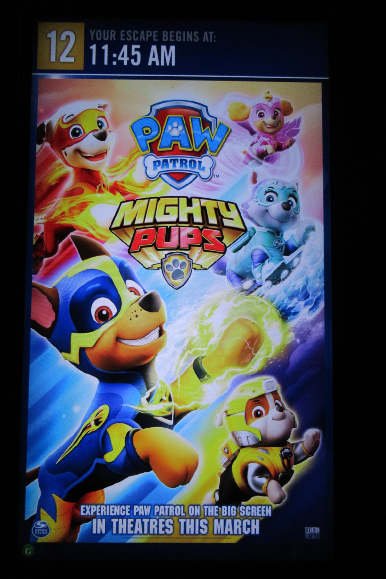 Paw Patrol Mighty Pups Theater Movie Poster by Codetski101