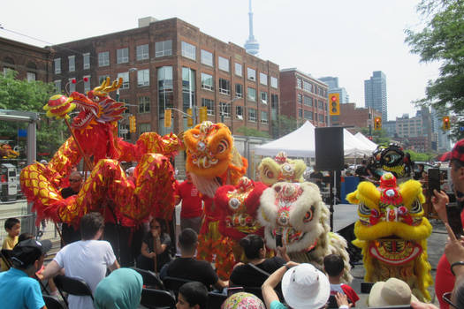Chinese Lions and Dragon Parade (Video Link) by Codetski101