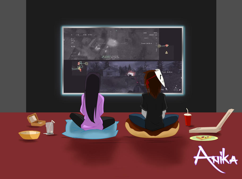 One night with videogames by AnikaSky