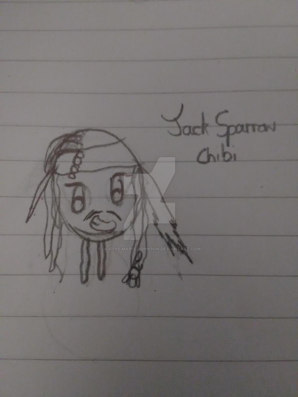 POTC-Jack Sparrow Chibi by Gladys-Marie-Johnson