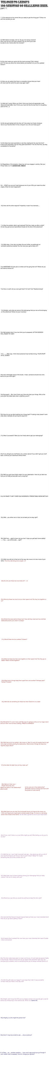 UPDATED 100 Questions part 1 by lemondragon19