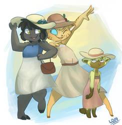 Hats and Dresses! by lemondragon19