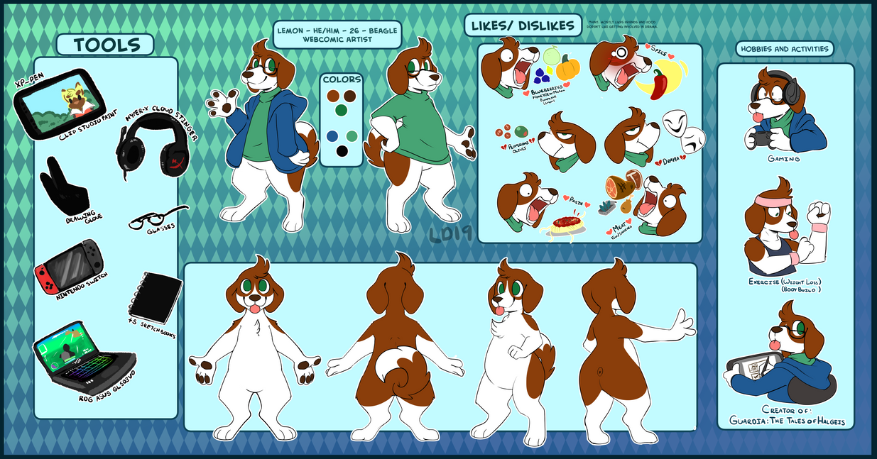 Fursona Ref by lemondragon19