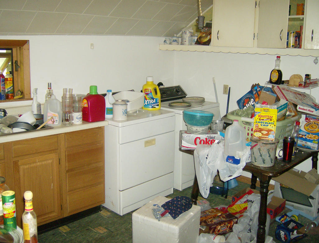 Messy apartment i by vesicustock on deviantart Messy apartment