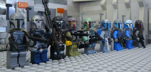 Mandalorians Lego by AraxussYexyr