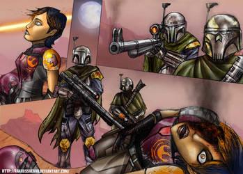 Sabine meets real mandalorians by AraxussYexyr