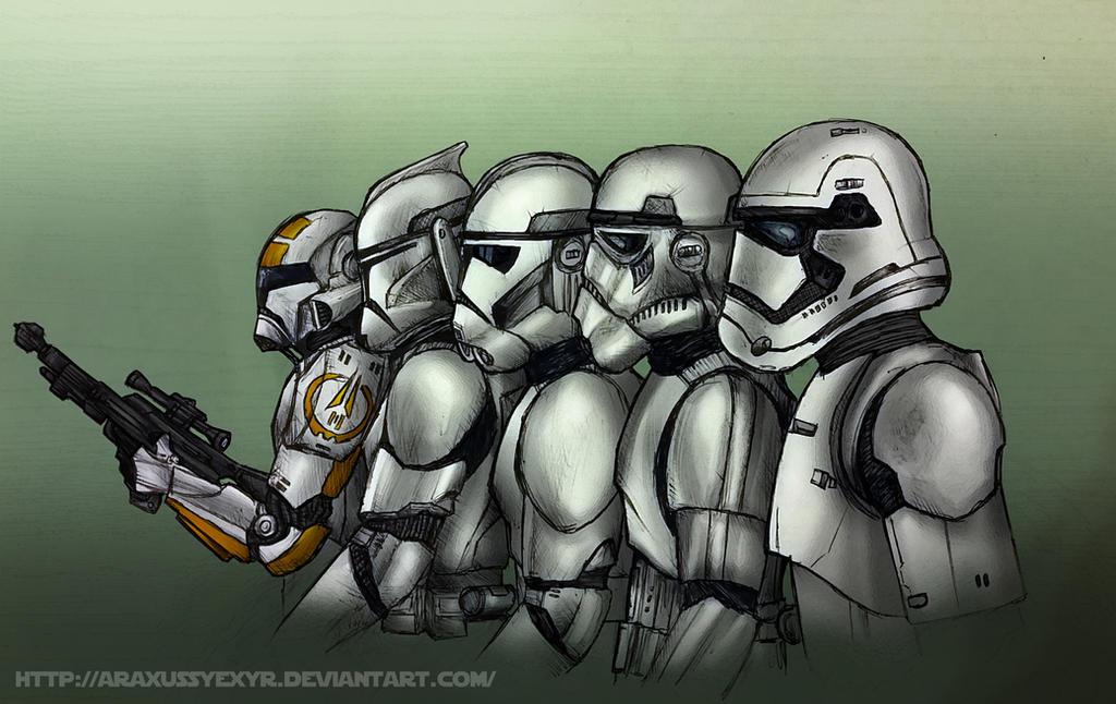 Stormtrooper armor evolution by araxussyexyr on deviantart - Stormtrooper suit wallpaper ...