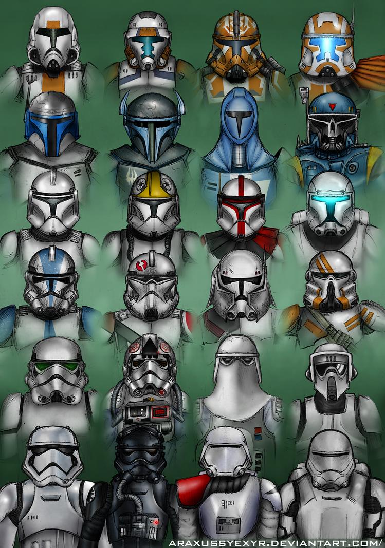 Star Wars - Troopers by AraxussYexyr