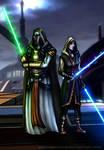 Jedi Revan and Meetra Surik by AraxussYexyr