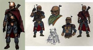 Mandalorian Outcast alternative hunter concept by AraxussYexyr