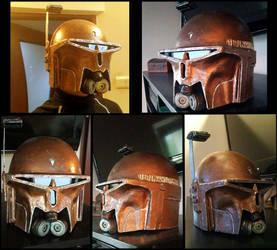 Mandalorian HUNTER helmet by AraxussYexyr