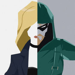 (Commision) - Black Canary and Green Arrow by AraxussYexyr