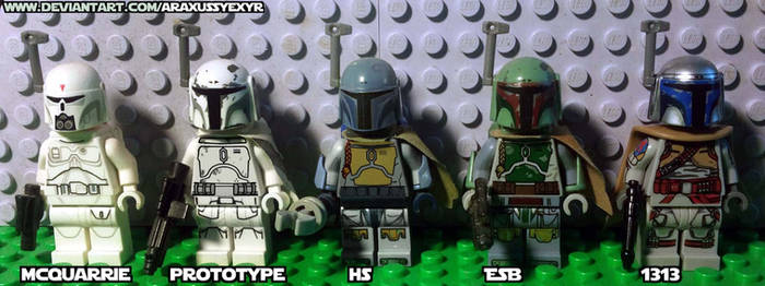 Lego custom Boba Fett armor evolution by AraxussYexyr