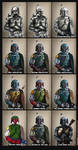 Boba Fett's design evolution by AraxussYexyr
