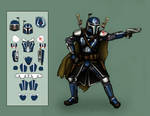 [Commission] - Mandalorian modern-crusader concept