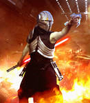 Star Wars The Force Unleashed Sith Stalker costume by AraxussYexyr
