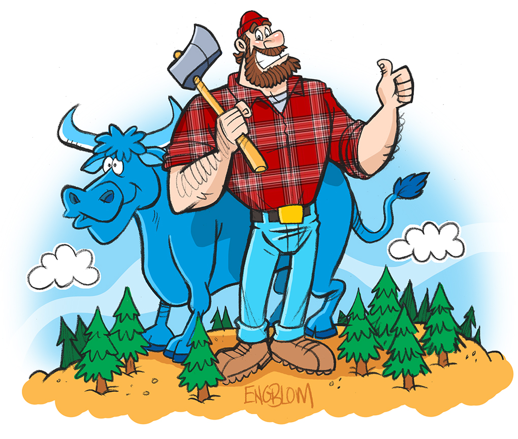 paul bunyan and babe by mengblom on deviantart paul bunyan clip art black and white Babe the Blue Ox Clip Art