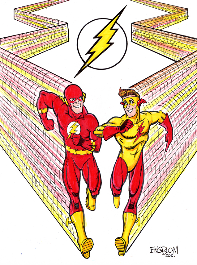 Flash and Kid Flash by mengblom