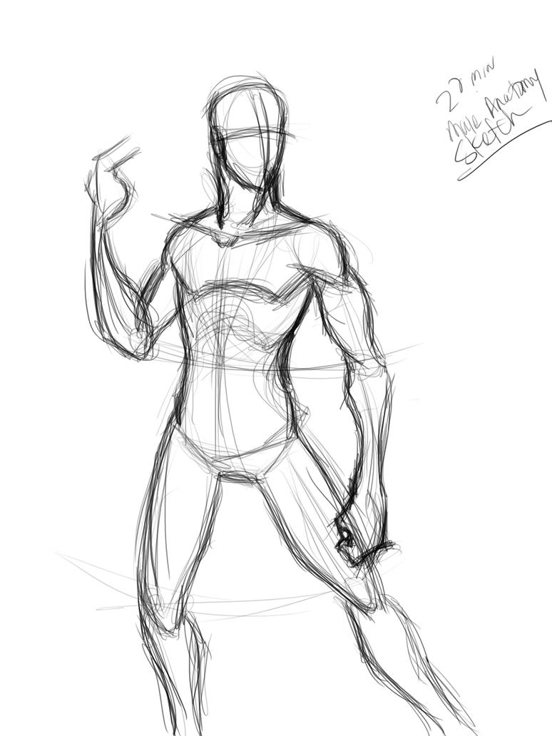 20 min male anatomy sketch by Mister-Grimm on DeviantArt