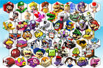 SSB4 Mario Series Roster