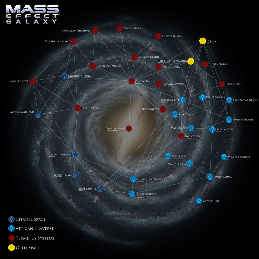 Mass Effect Galaxy Map by DWebArt