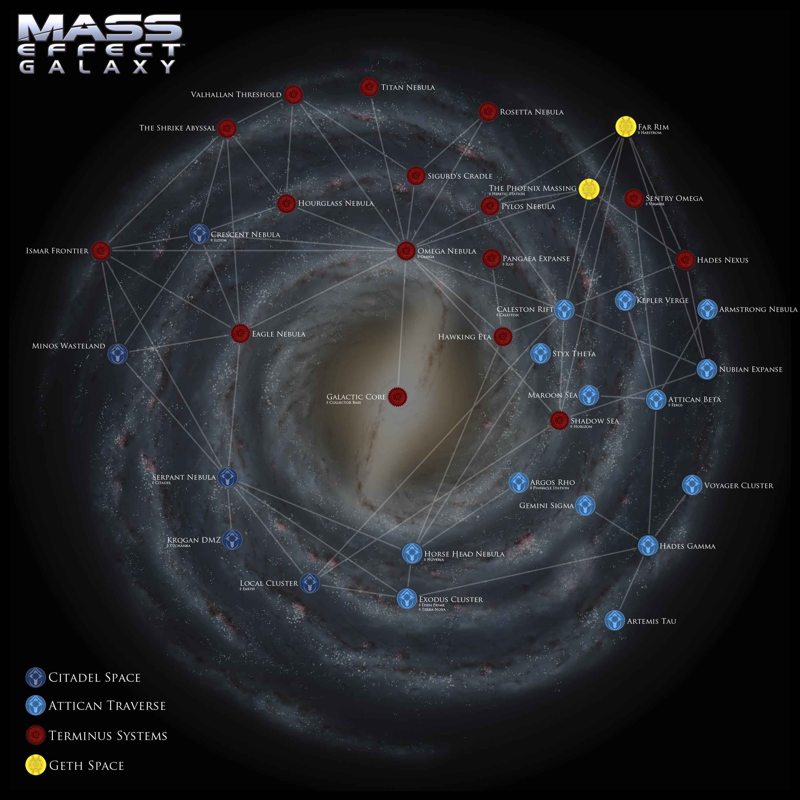 Mass Effect Galaxy Map by DWebArt