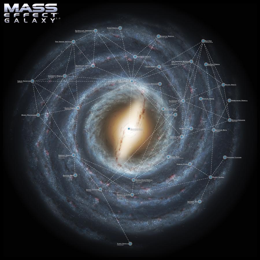 Mass Effect Galaxy Map 2 0 By Dwebart On Deviantart