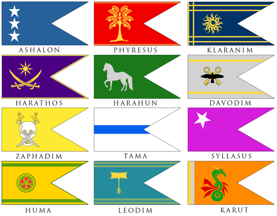 12 Tribes Flags By Dwebart On Deviantart