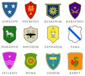 12 Tribes Emblems by DWebArt