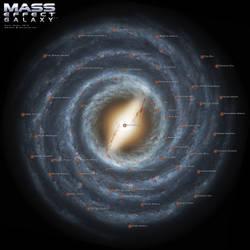 Mass Effect Galaxy Map 3.0 by DWebArt