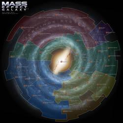 Mass Effect Galaxy Map 3.5 by DWebArt