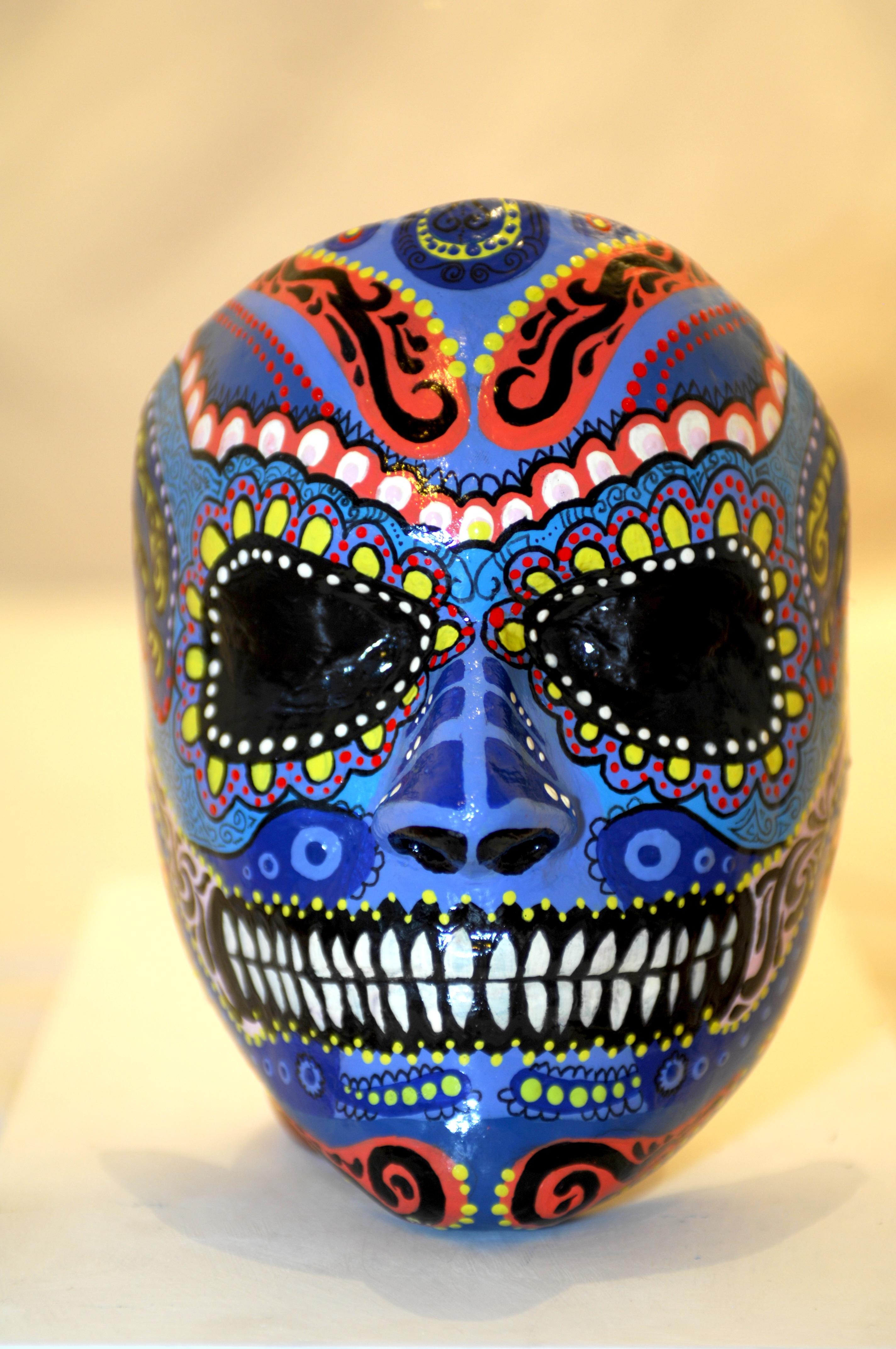 Mexican sugar skull mask by MinkyArts on DeviantArt