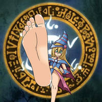 Dark Magician Girl Makes Her Move by LeinadDrawsFeet