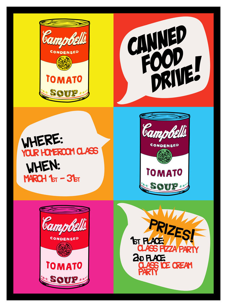 School Canned Food Drive Letter Christmas