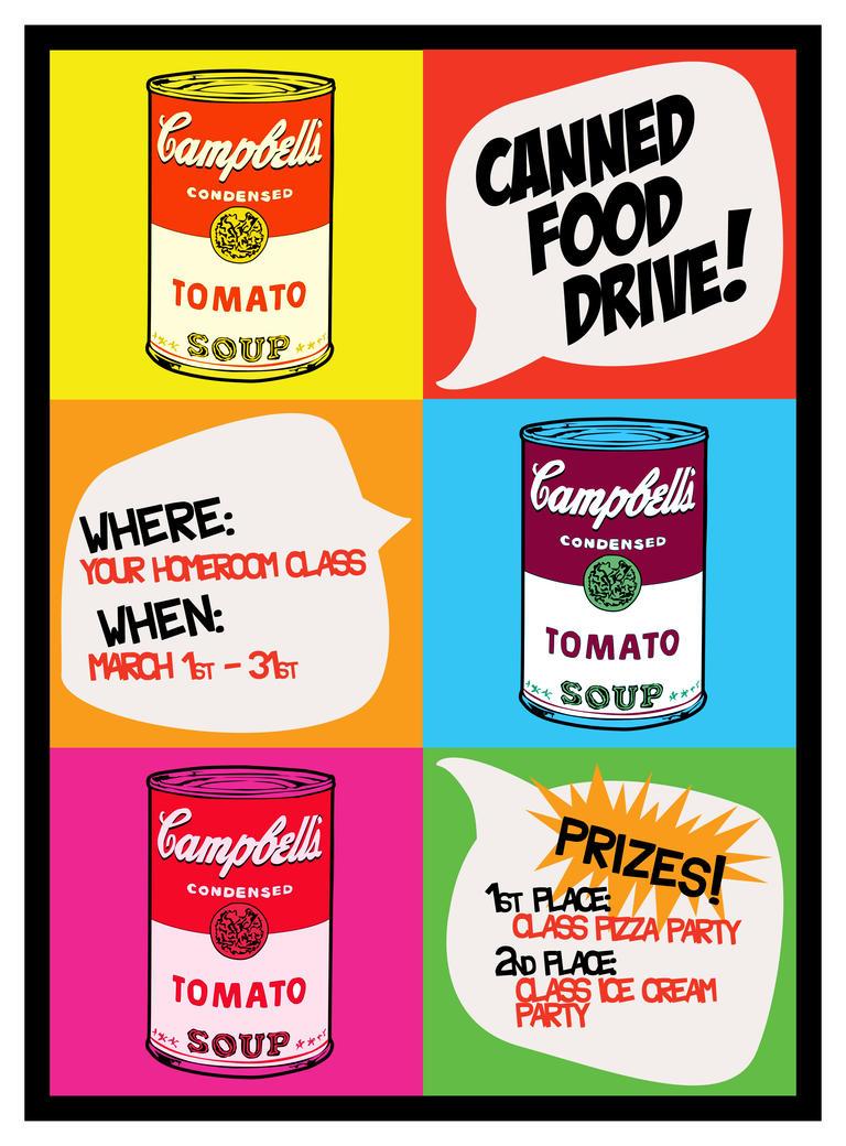 Canned Soup Drive Flier by Skykittens