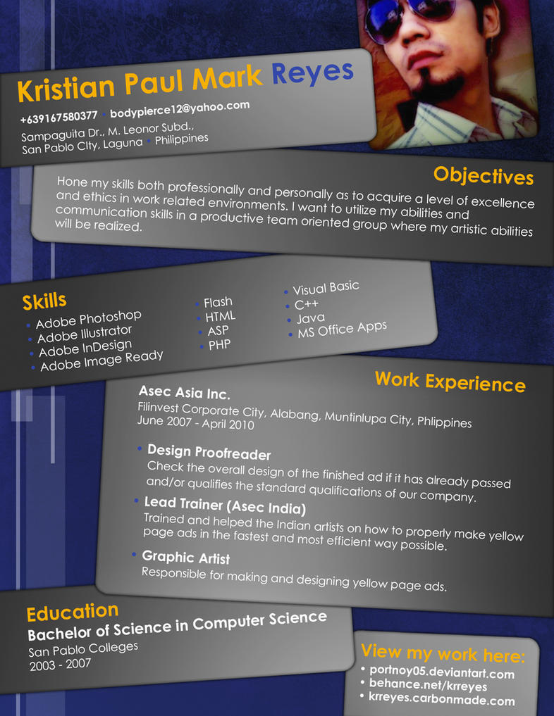 Resume by portnoy05