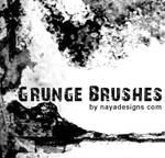 Grunge brush set