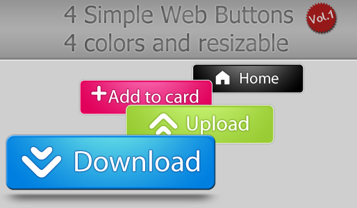 Web Buttons by NayaDesigns