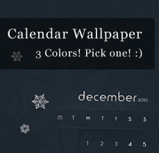 December Wallpaper Calendar by NayaDesigns