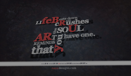 Wallpaper February 2011 by NayaDesigns