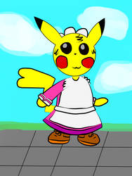 5 - Pikachu with Megane's dress