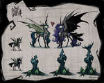 Chrysmoon with Don't Starve style